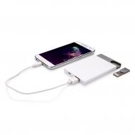 2500 mAh powerbank 8 GB USB-vel