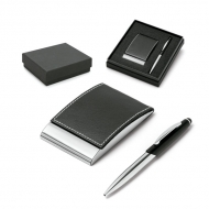Ball pen and cardholder set.