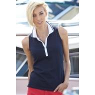 Ladies' Elastic Polo Sleeveless