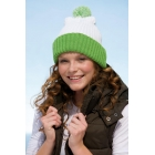 Knitted Cap with Pompon