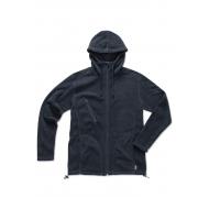Hooded fleece jacket for men